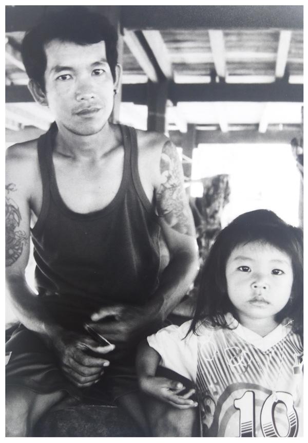 Papa et sa fille au Laos