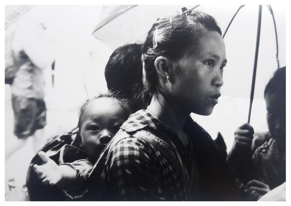 Dame vietnamienne et son bébé